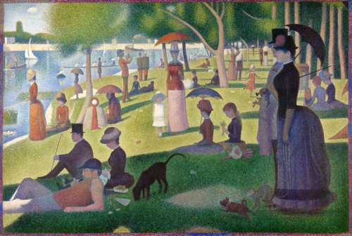 "Experience the living ""A Sunday on La Grande Jatte"" through Columbus's Topiary Park http://www.topiarygarden.org"