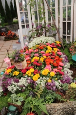 Floral bed at Cincinnati Flower Show