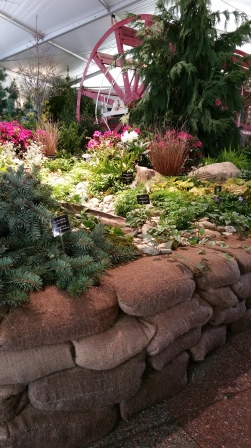 Riverfront garden display