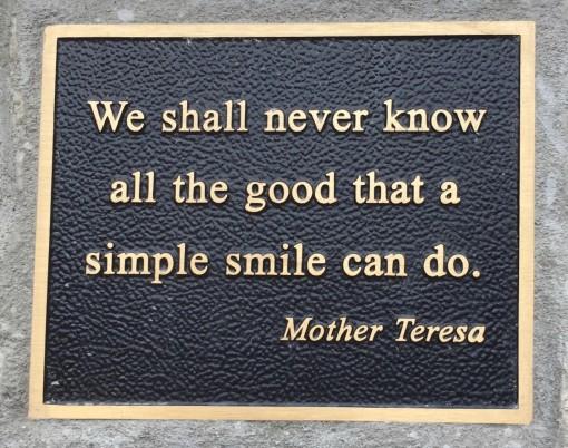 Rose garden M Teresa quote